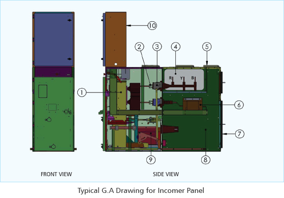 12kv Air Insulated Metal Clad Switchgear Panel
