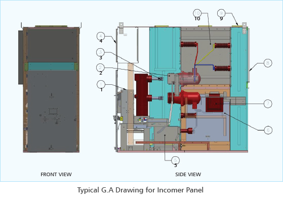 36kV Air Insulated Metal Clad Switchgear Panel